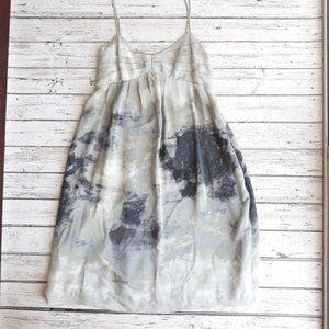ANTHROPOLOGIE Fei Silk Watercolor Dress 0